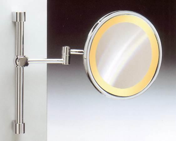 Kosmetikspiegel mit Höhenverstellung und Beleuchtung