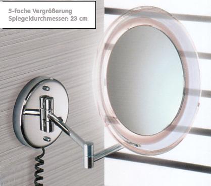 Kosmetikspiegel und Rasierspiegel wie Schminkspiegel by Bavaria Bäder-Technik GdbR