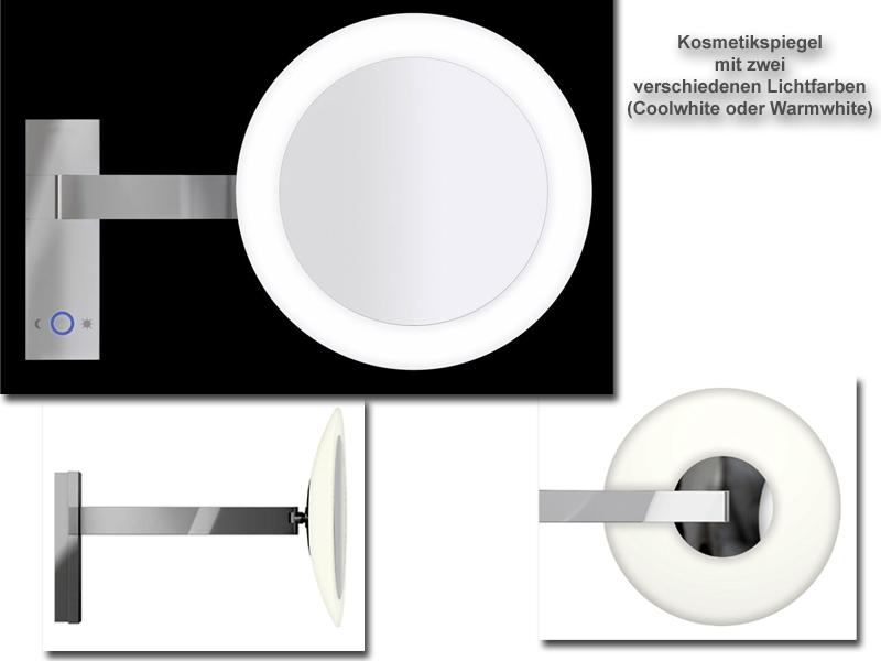 Kosmetikspiegel mit Lichtfarben in Warmlicht und Kaltlicht by Bavaria Bäder-Technik GdbR