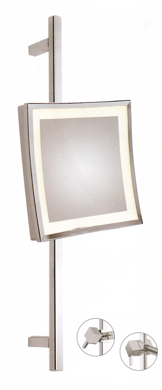 Kosmetikspiegel quadratisch mit Beleuchtung und höhenverstellbar by Bavaria Bäder-Technik GdbR