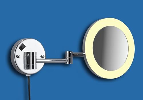 Kosmetikspiegel und Rasierspiegel mit Licht als Wandspiegel by Bavaria Bäder-Technik GdbR