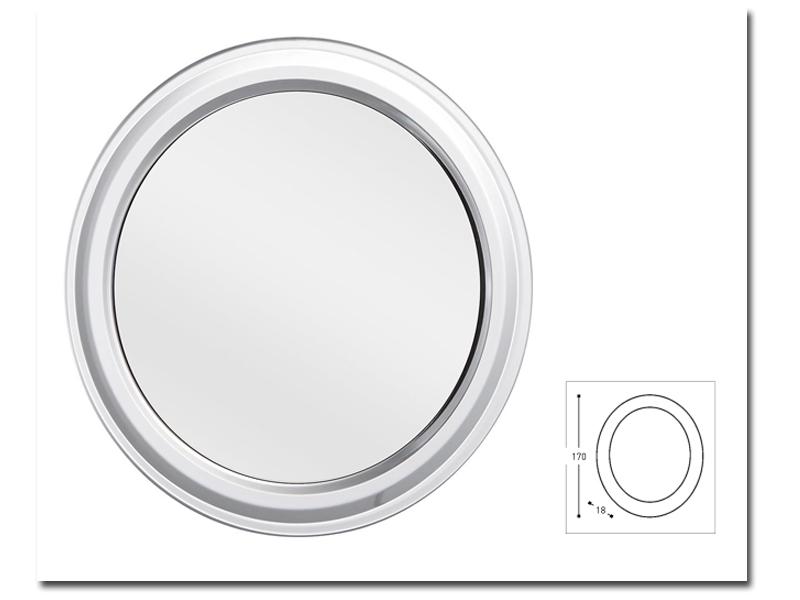 Klebespiegel im runden Design als Kosmetikspiegel by Bavaria Bäder-Technik GdbR
