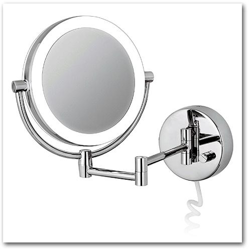 Kosmetikspiegel mit 5-fach und 10-fach Vergrösserung by Bavaria Bäder-Technik GdbR