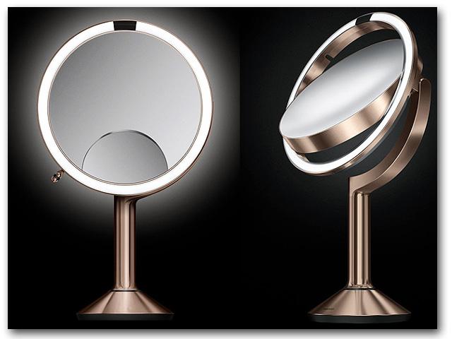 Kosmetikspiegel Standspiegel mit 5-fach und 10-fach Vergrösserung