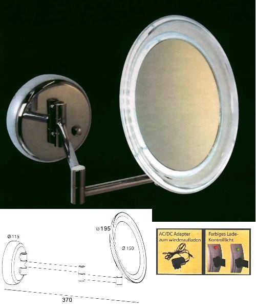Kosmetikspiegel und Schminkspiegel mit Akku - beleuchtet mit LED by Bavaria Bäder-Technik GdbR