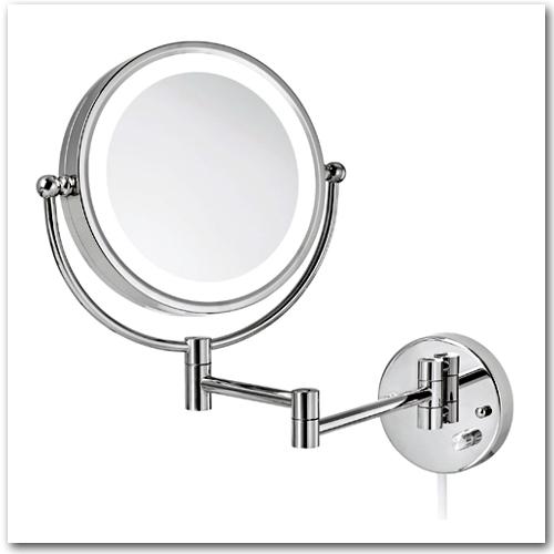 Kosmetikspiegel beleuchtet mit 3-fach und 7-fach Vergrösserung