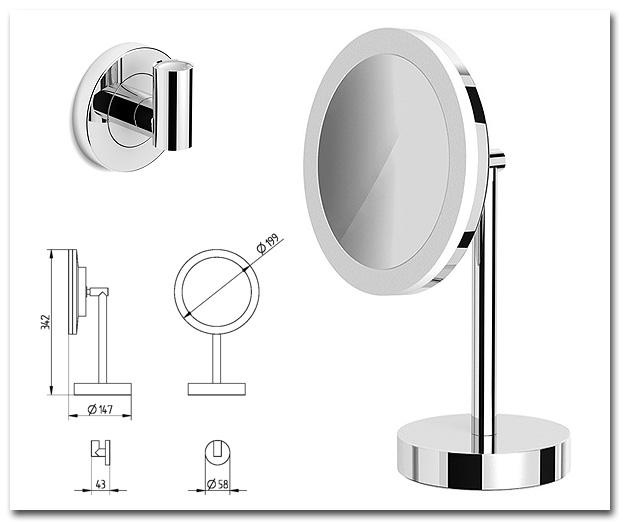 Kosmetikspiegel Wand und Standmodell