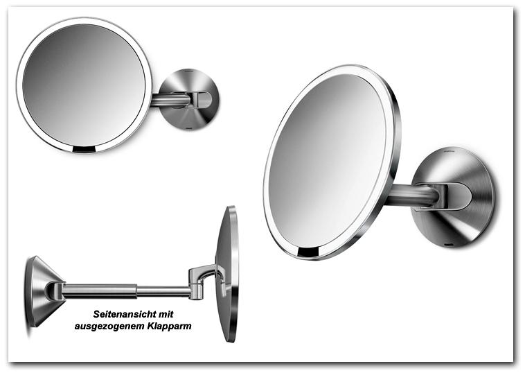Kosmetikspiegel mit Klapparm ausziehbar by Bavaria Bäder-Technik GdbR