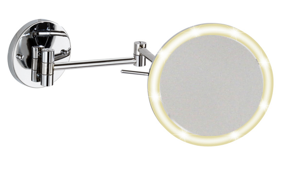 Kosmetikspiegel mit LED-Beleuchtung und Batteriebetrieb
