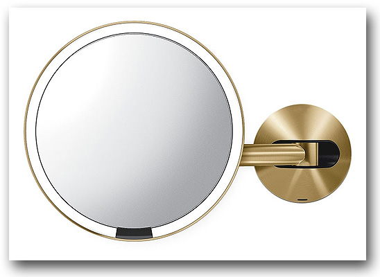 Kosmetikspiegel in messing mit LED-Beleuchtung by Bavaria Bäder-Technik GdbR