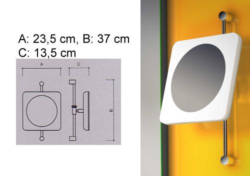 Kosmetikspiegel in der Höhe verstellbar mit Beleuchtung by Bavaria Bäder Technik GdbR