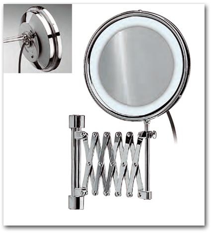 Kosmetikspiegel mit Scherenauszug
