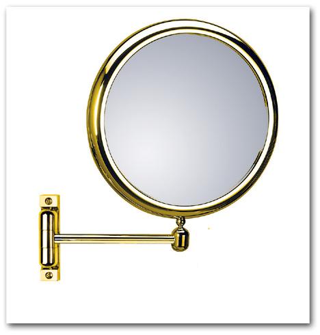 Kosmetikspiegel Schminkspiegel in der Farbe gold by Bavaria Bäder-Technik GdbR