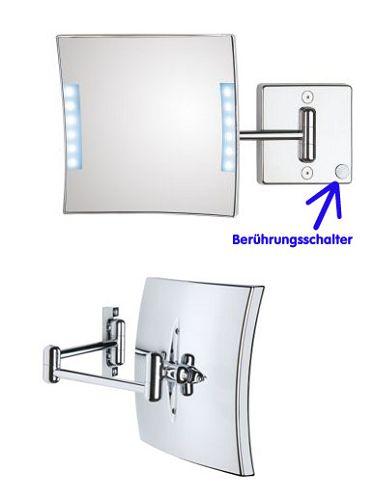 Kosmetikspiegel Rasierspiegel LED beleuchtet by Bavaria Bäder-Technik GdbR
