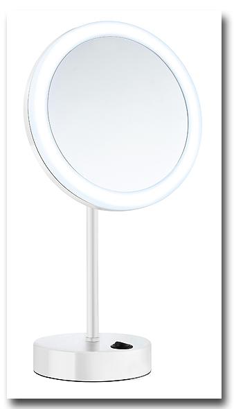 Kosmetikspiegel Standspiegel mit Batteriebetrieb zur Verwendung als Schminkspiegel by Bavaria Bäder-Technik GdbR