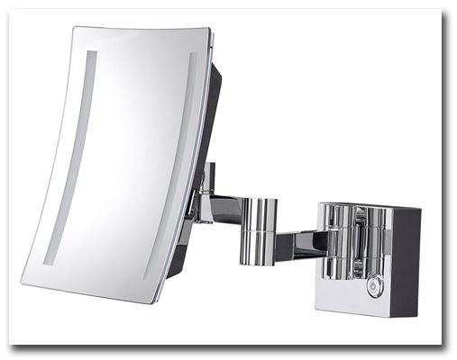 Kosmetikspiegel mit LED Beleuchtung und Vergrösserungsspiegel by Bavaria Bäder-Technik GdbR