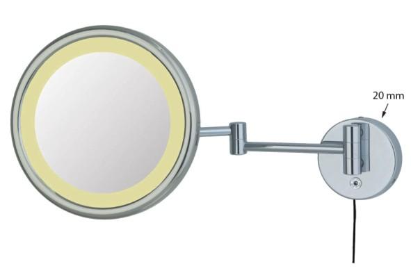 Kosmetikspiegel zur Anbringung als Wandspiegel mit Beleuchtung by Bavaria Bäder-Technik GdbR