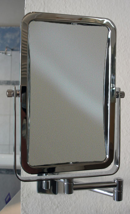 Kosmetikspiegel als Wandspiegel in rechteckig mit Vergrösserungsspiegel by Bavaria Bäder-Technik GdbR