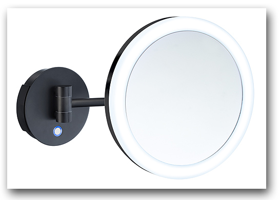 Kosmetikspiegel Wandspiegel in schwarz by Bavaria Bäder-Technik GdbR