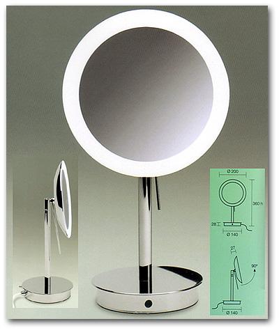 Kosmetikspiegel mit Beleuchtung LED zum Stellen by Bavaria Bäder-Technik GdbR