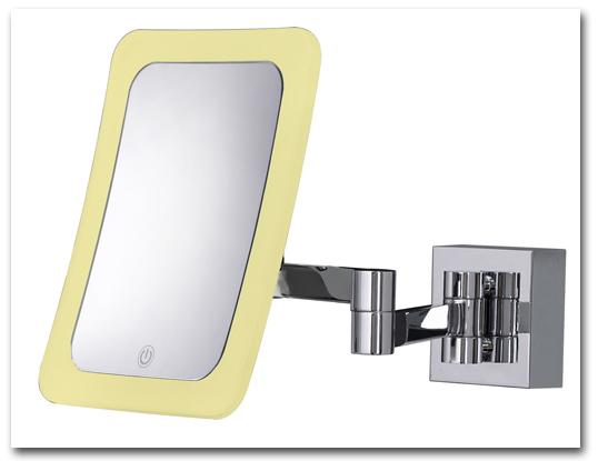 Schminkspiegel mit Vergrösserung zur Befestigung als Wandspiegel und zur Verwendung als Kosmetikspiegel by Bavaria Bäder-Technik GdbR