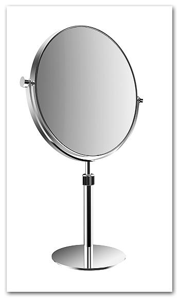 Kosmetikspiegel als Standspiegel variabel in der Höhe verstellbar by Bavaria Bäder-Technik GdbR