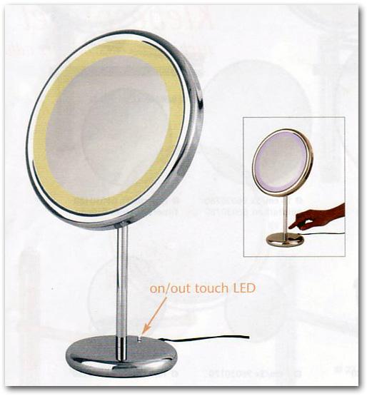 Stellspiegel und Standspiegel mit Licht zur Verwendung als Schminkspiegel by Bavaria Bäder-Technik GdbR